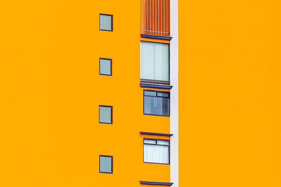 Building, Orange, Architecture, Floors, Windows