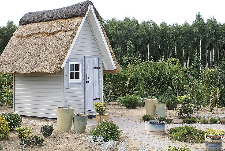 Cottage, Cottage-garden, Bower, Architecture, Forest
