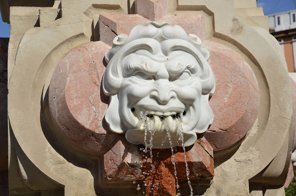 Fountain, Seville, Water, Water Feature, Architecture