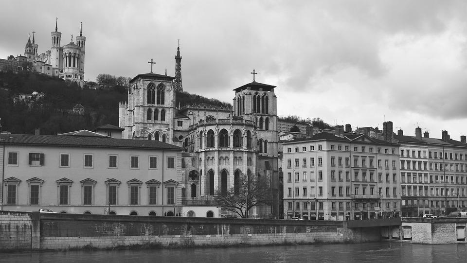 Lyon, Basilica, France, Church, Architecture, Fourviere