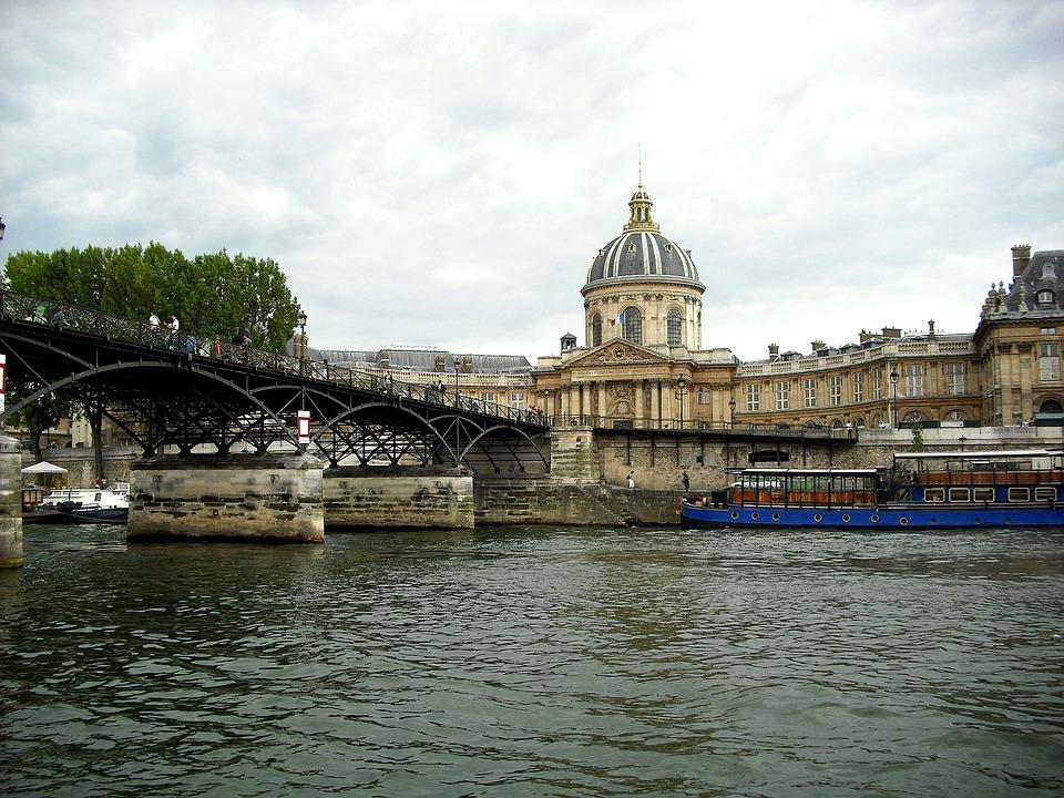 Paris, Seine, River, France, Monument, Architecture