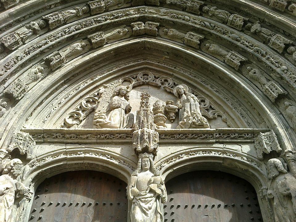 Gothic, Requena, Church, Gantry, Eardrum, Architecture