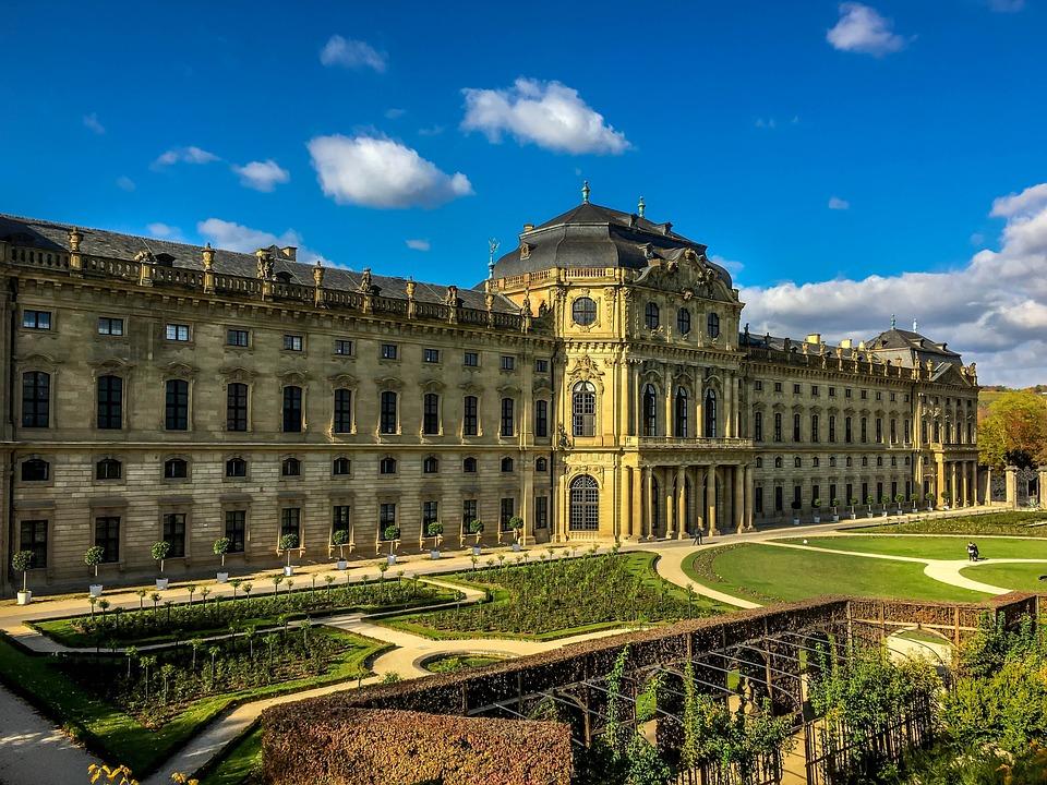 Würzburg, Residence, Baroque, Garden, Architecture