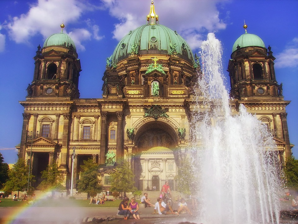Berlin, Germany, Cathedral, Architecture, Fountain