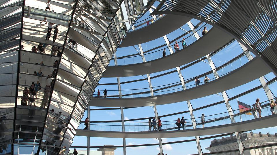 Berlin, Dome, Steel, Modern, Glass, Architecture