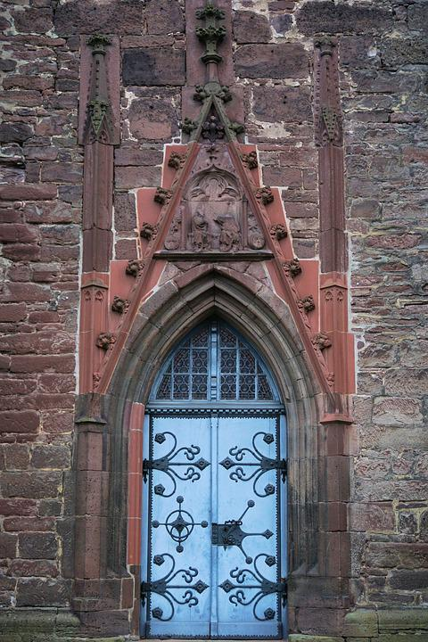Church, Goal, Church Door, Door, Architecture, Portal