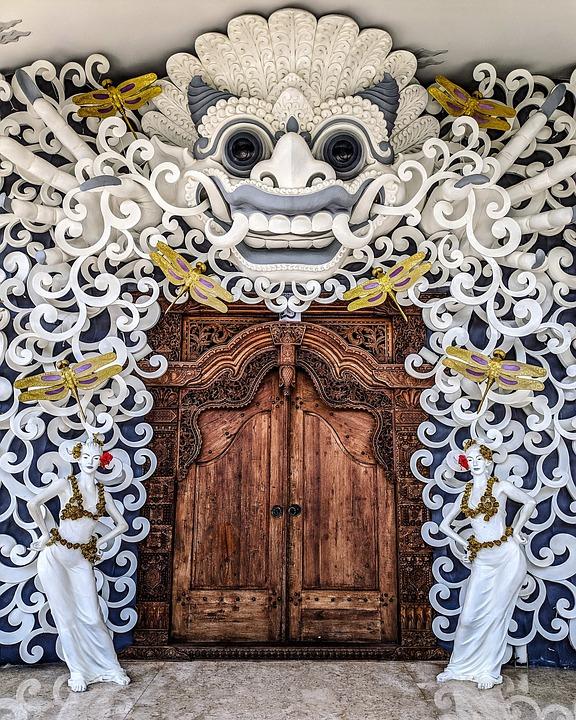 Bali, Uc Silver, Architecture, White, Brown, Door, Gold