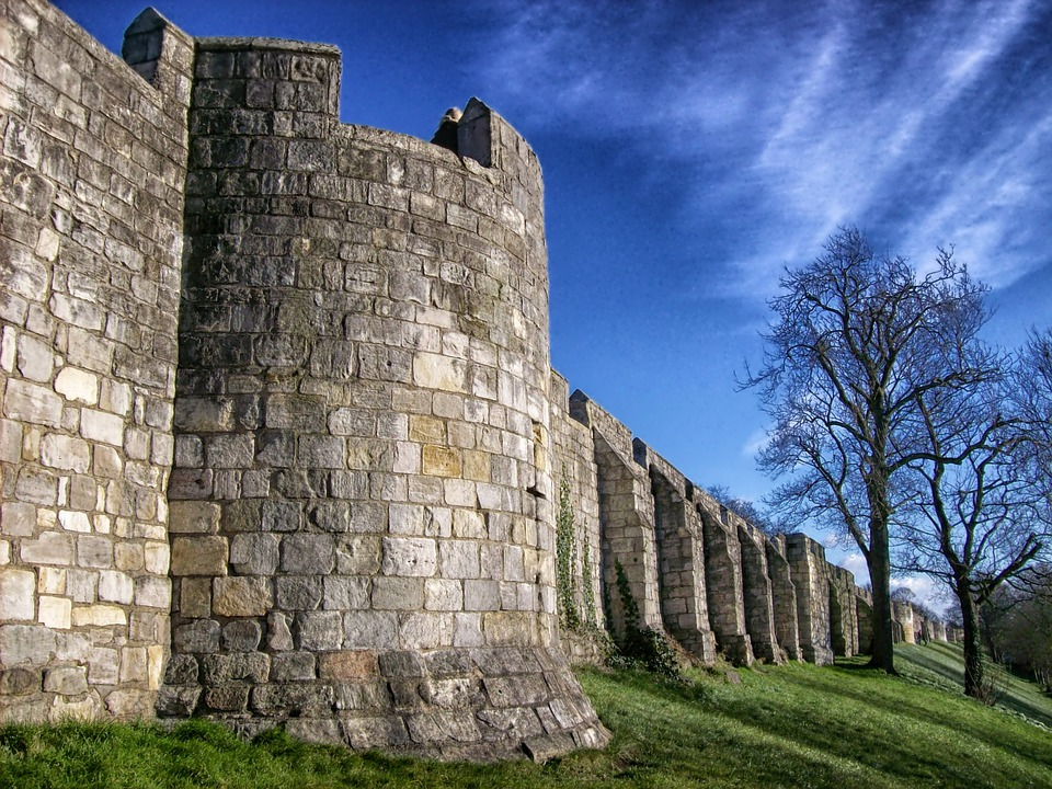 City Walls, York, England, Great Britain, Architecture