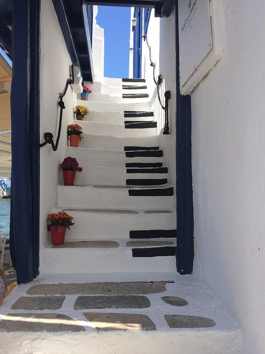 Greece, Scale, Architecture, Summer, Stairs