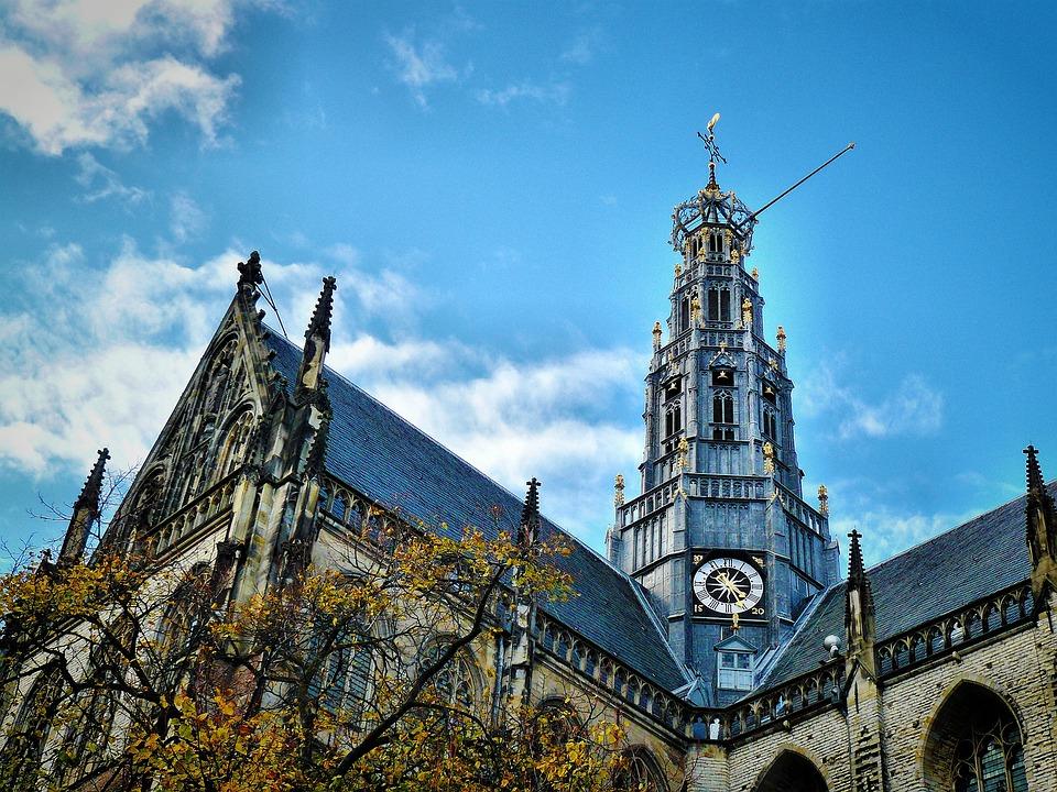 Netherlands, Haarlem, Church, Architecture, Buildings