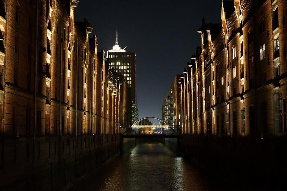 Speicherstadt, Hamburg, Canal, Architecture, Building