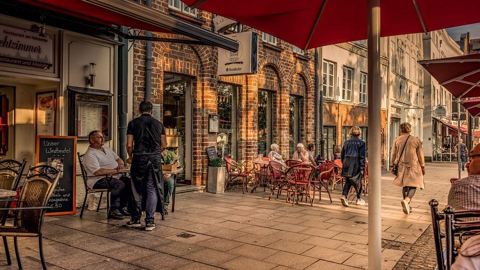 Cafe, Restaurant, Road, Historic Center, Architecture