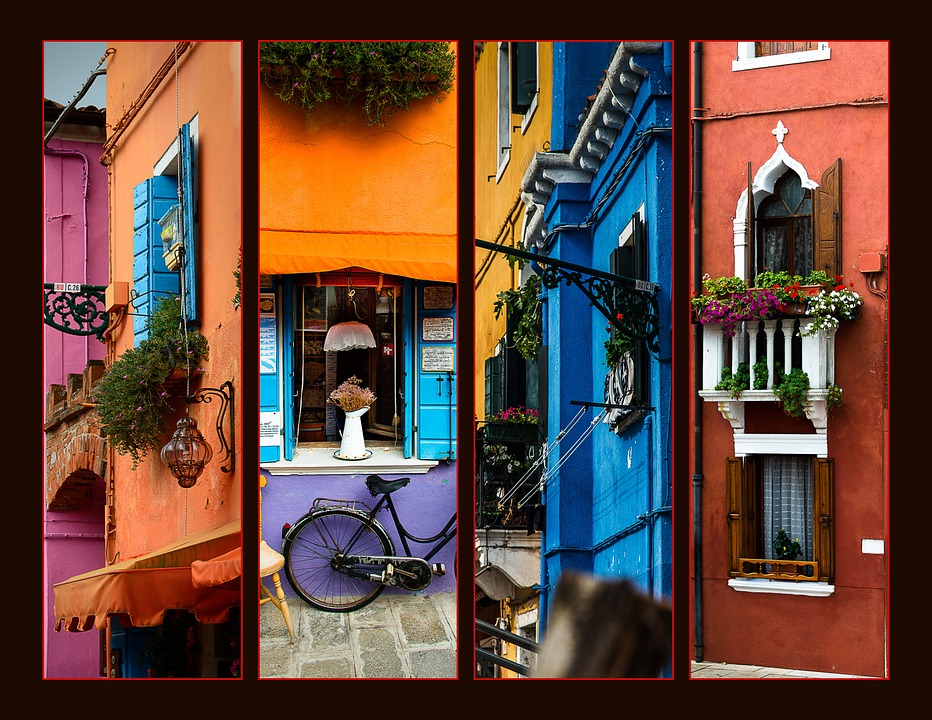 Architecture, Collage, Italy, Holiday, Murano