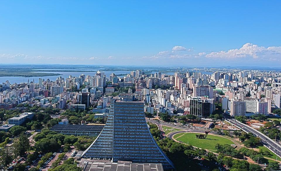 City, Townscape, Widescreen, Horizon Line, Architecture