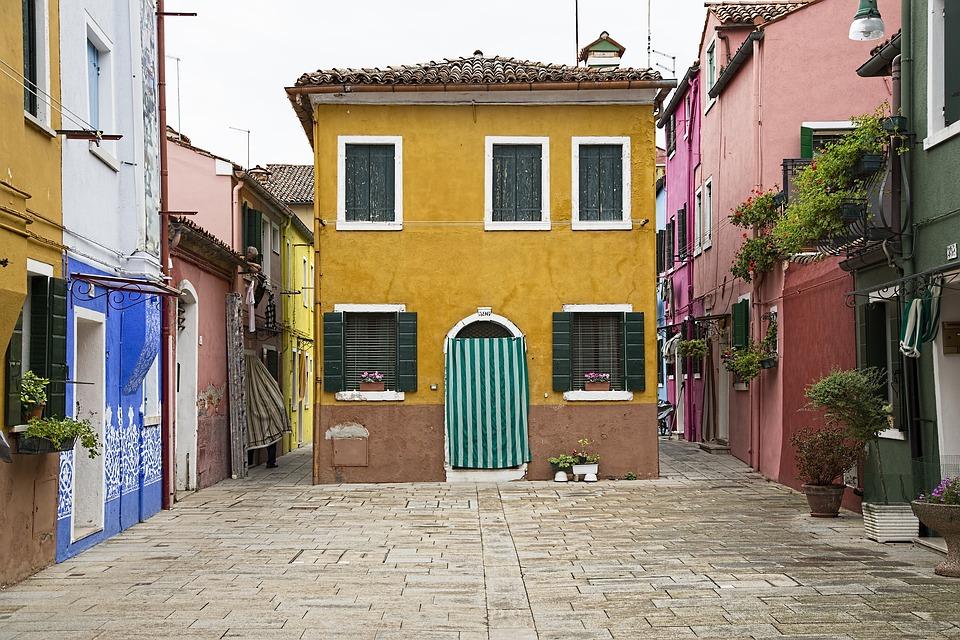 Venice, House, Architecture, Old, Building, Color