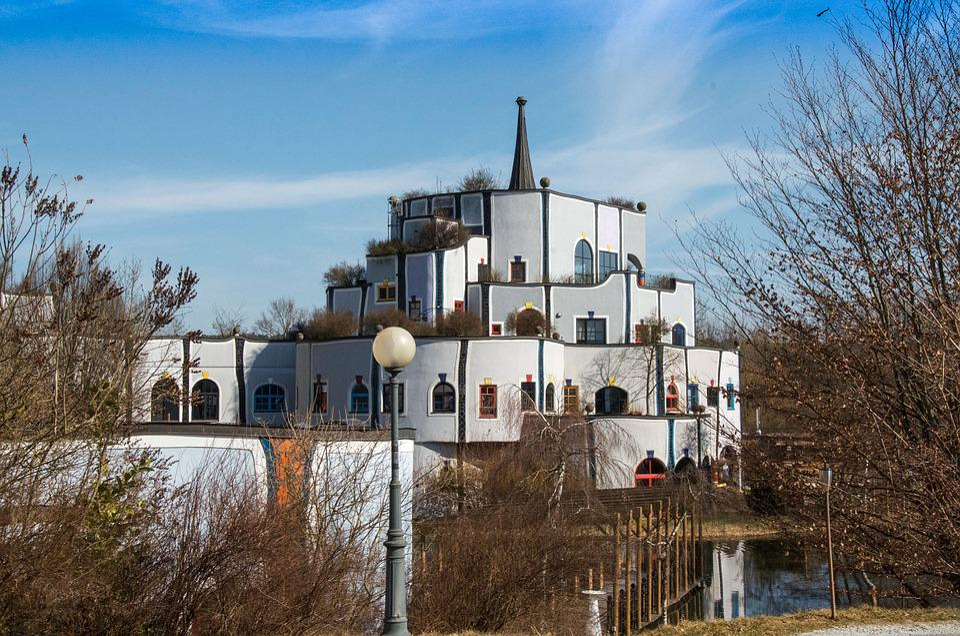 Architecture, Bridge, House On Water, Sky, Spire