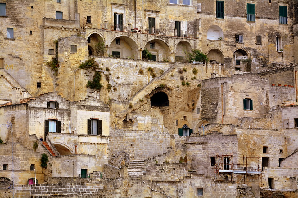 Matera, Houses, Old, Italy, Architecture, Historian