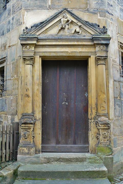 Bamberg, Door, Input, Architecture, Portal