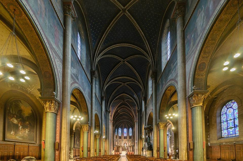 Church, Interior, Architecture, Vault