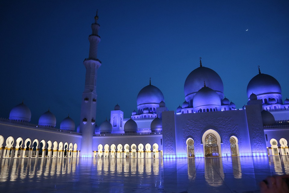 Abu Dhabi, Mosque, Architecture, Orient, Islam, Travel