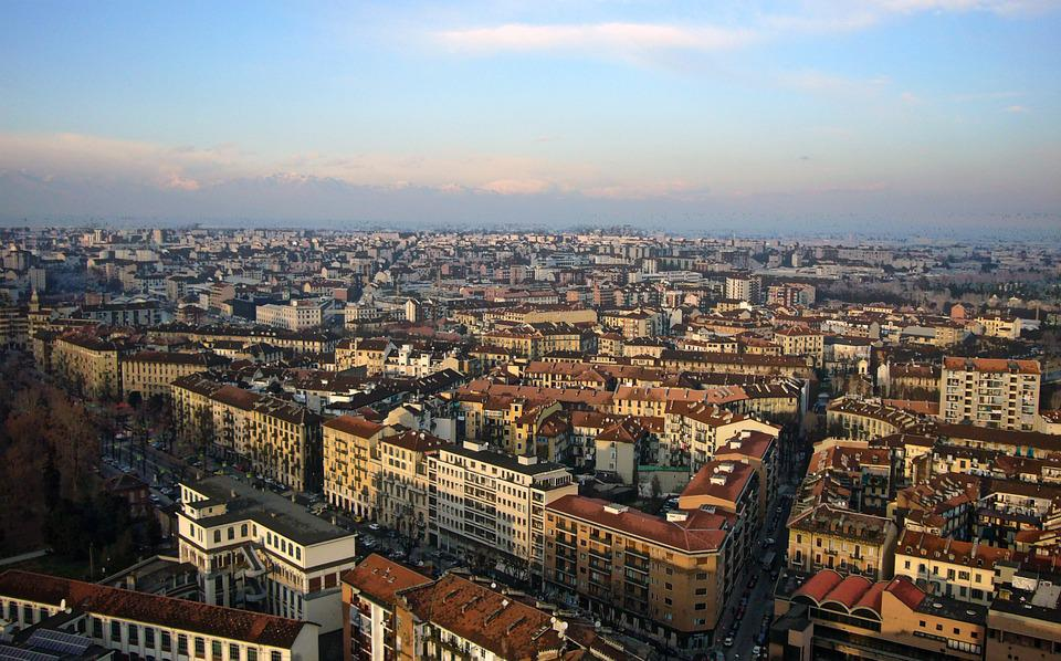 Italy, Turin, Architecture, Aerial View