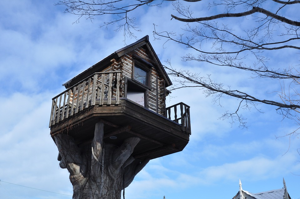 Japan, Hokkaido, In Tree House, Abnormal, Architecture