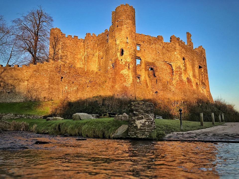 Castle, Wales, Landmark, Architecture, Medieval