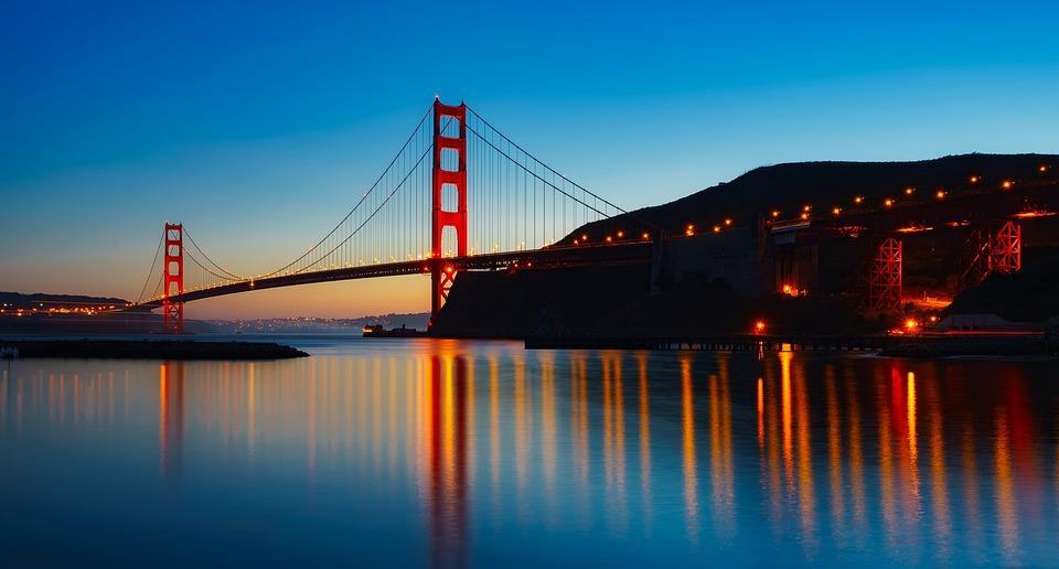 Panorama, Golden Gate Bridge, Landmark, Architecture