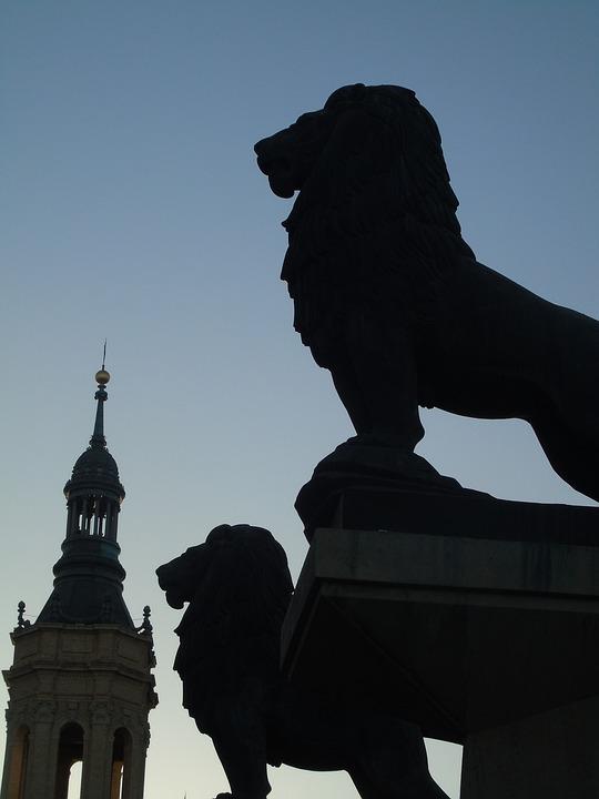 Leon, Statue, Sculpture, Iron, Decoration, Architecture