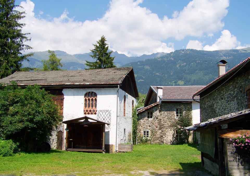 Old Stone Houses, Architecture, Lienz