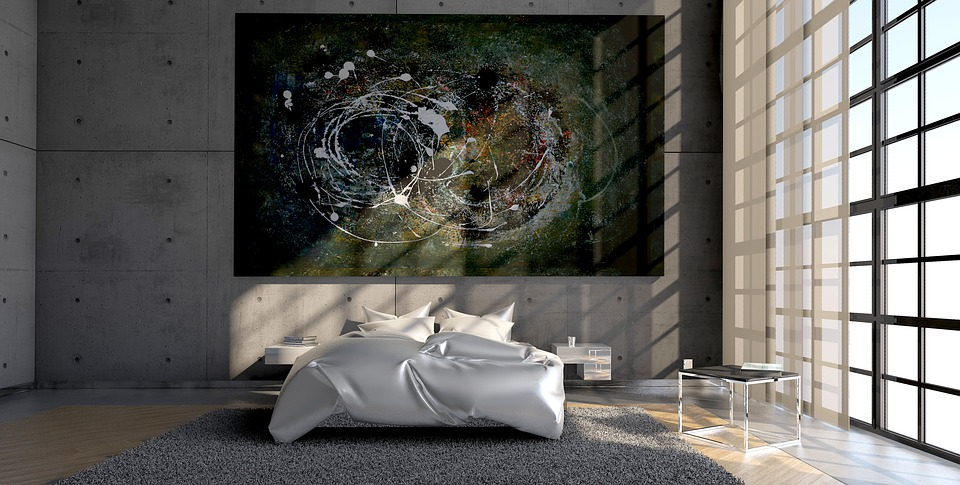 Lifestyle, Painting, Live, Bedroom, Architecture