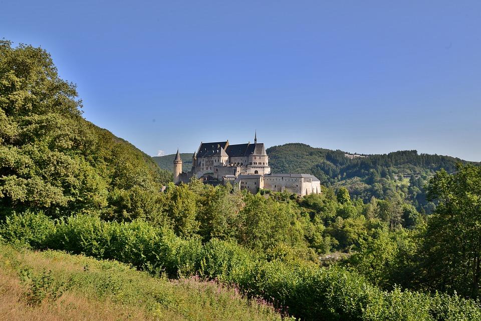 Castle, Landscape, Architecture, Luxembourg, Vianden