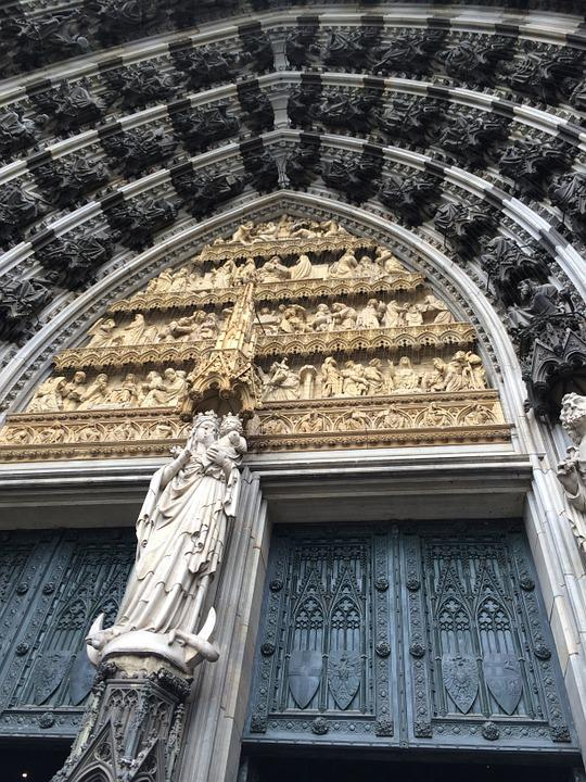 Cathedral Door, Madonna And Child, Architecture