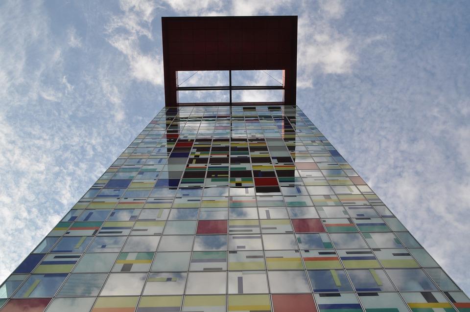 Düsseldorf, Media Harbour, Architecture, Facade, Modern