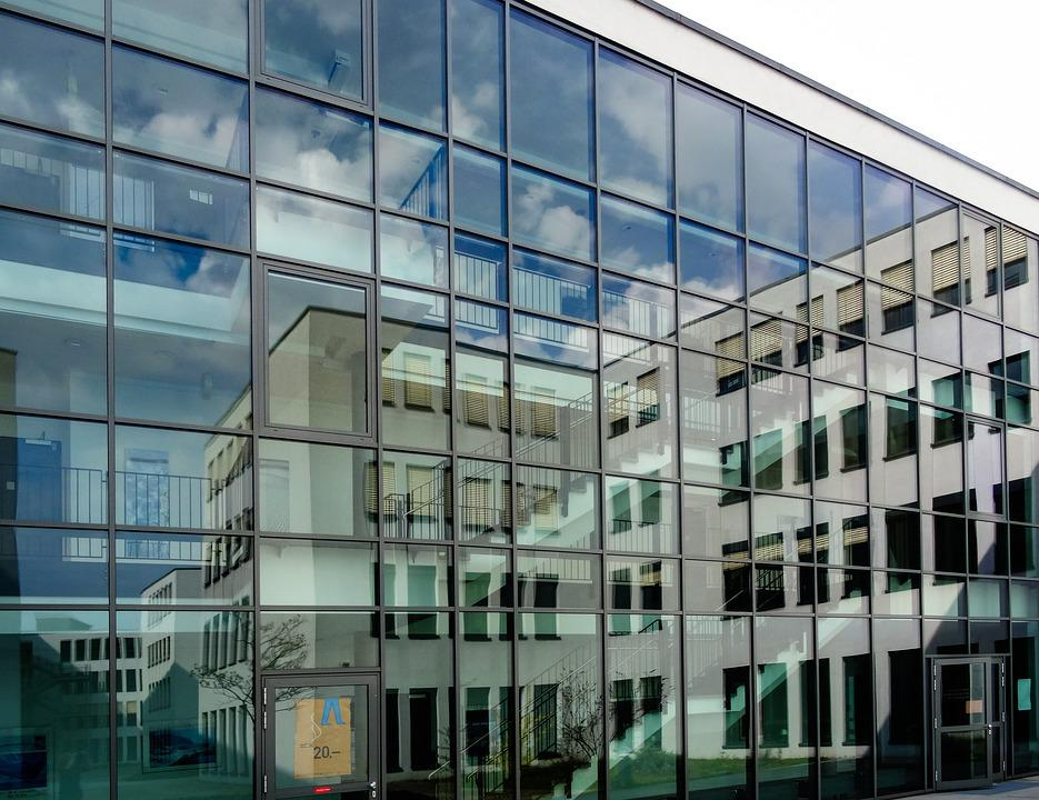 Glass Front, Mirroring, Modern, Architecture, Facade