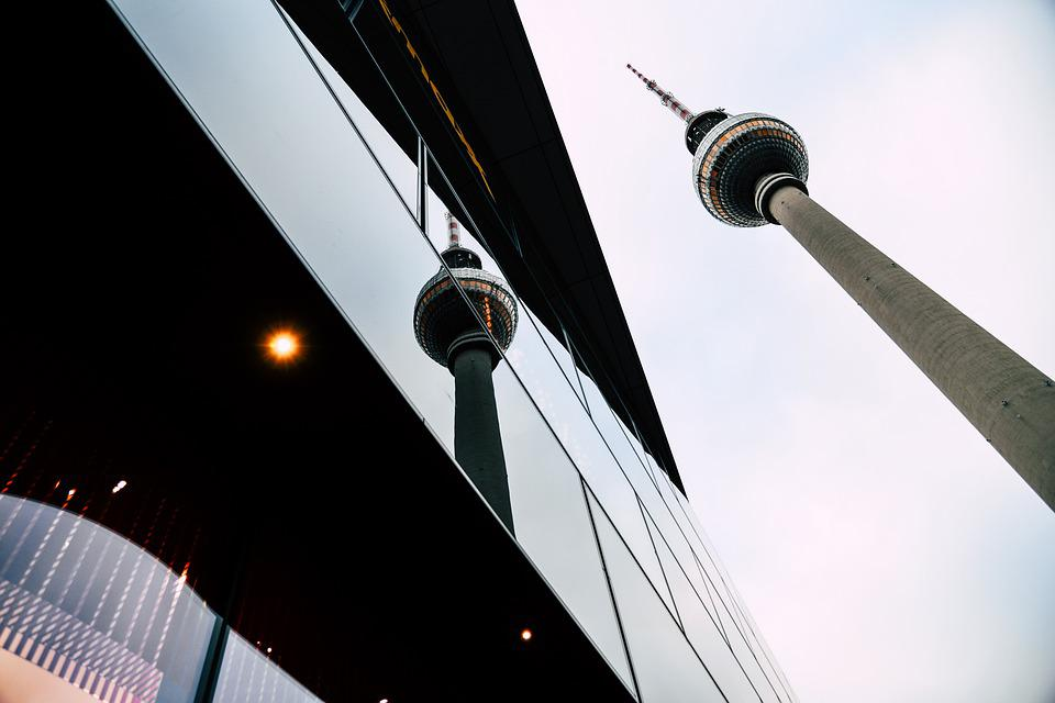 Tv Tower, Berlin, Mirroring, Reflection, Architecture