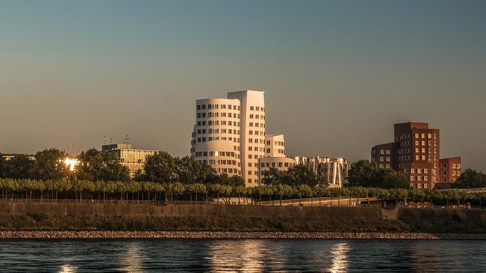 Düsseldorf, Modern, Architecture, Building, City