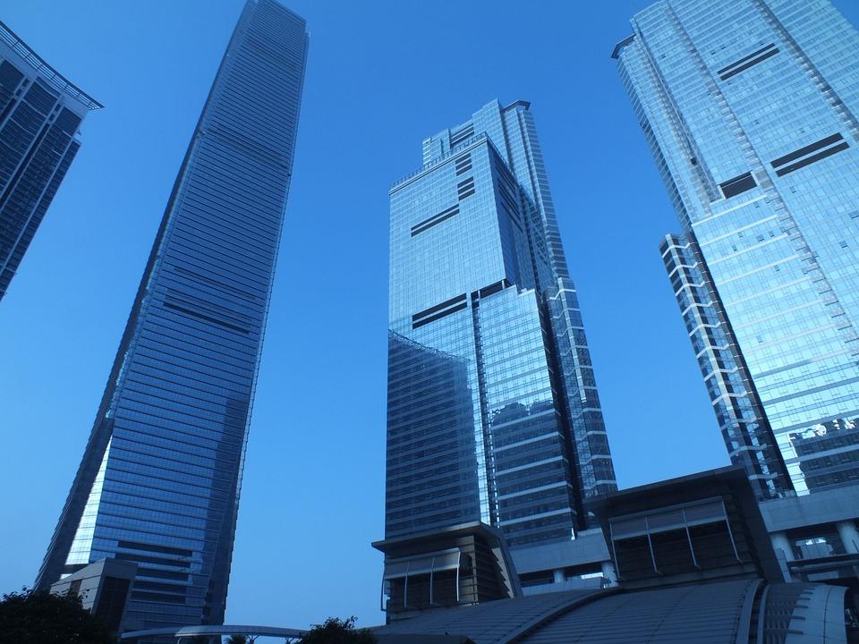 Building, Modern, Architecture, Morning, Hong Kong