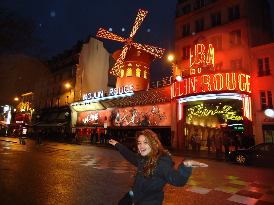 Moulin, Rouge, Red, Light, Traffic, Architecture