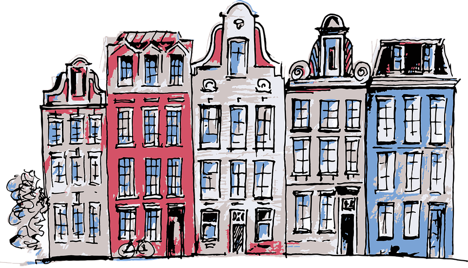 Amsterdam, Netherlands, Houses, Street, Architecture