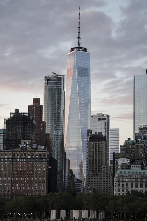 Usa, New York, Skyline, Glass, Architecture, Nyc