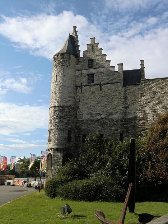 Castle, Architecture, Antwerp, Buildings, Monument, Old