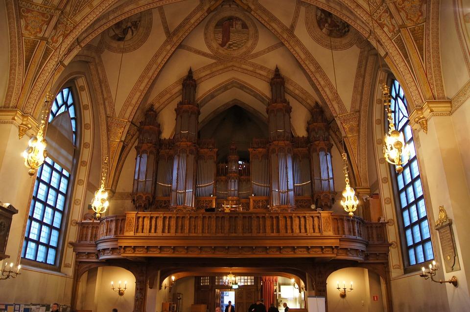 Church, Organs, Balcony, Architecture, Church Organ