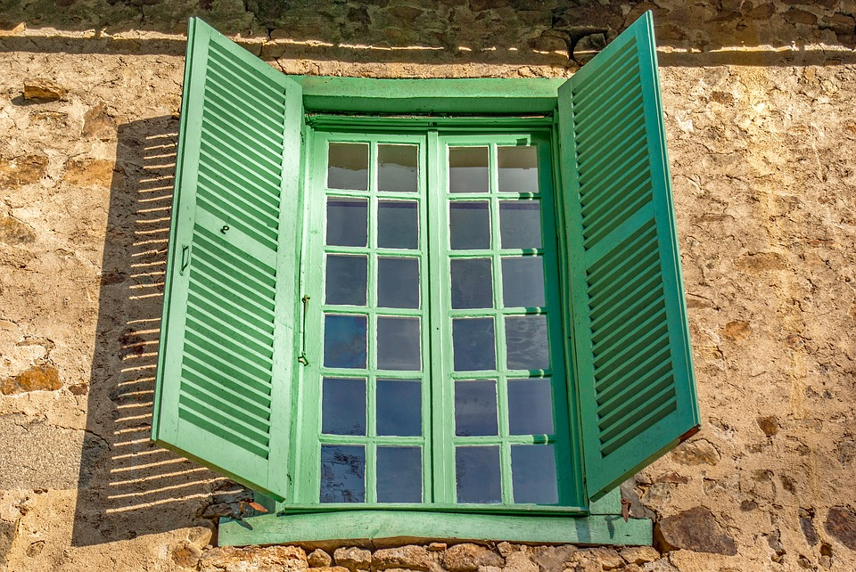 Window, Shutter, Exterior, Outdoor, Architecture, Old