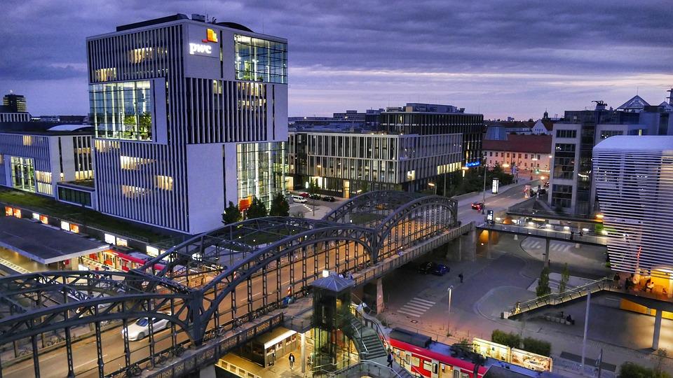 City, Panorama, Architecture, Industry, Horizontal