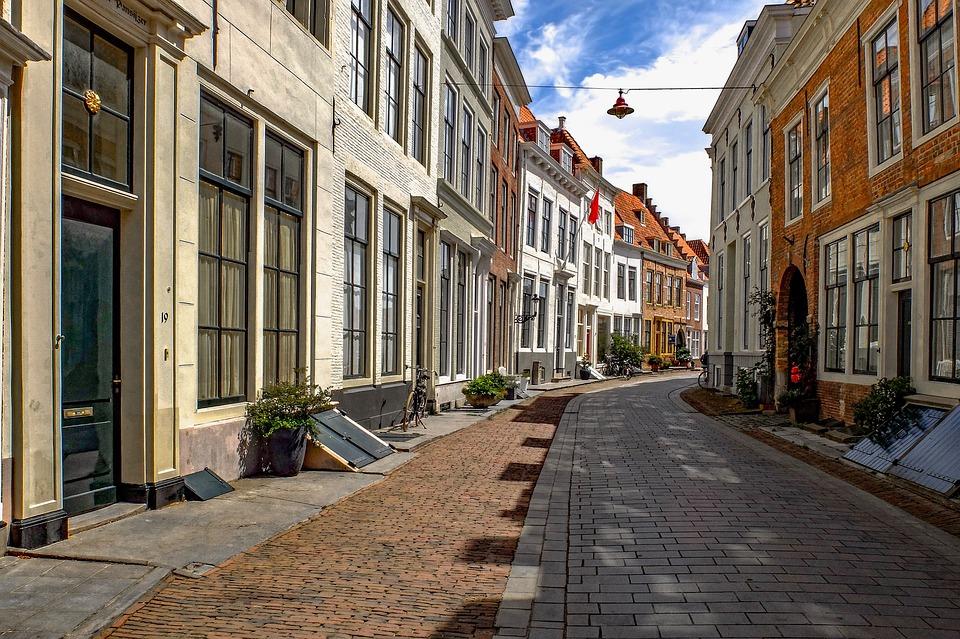 Street, Pedestrian, City, Brick, Architecture