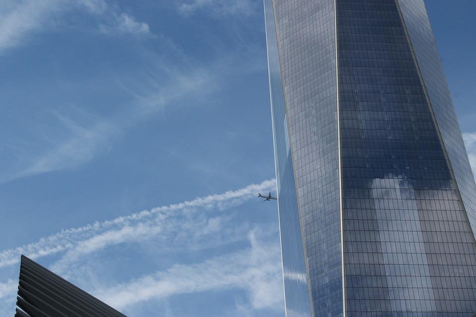 New York, City, Plane, Urban, Architecture, Downtown