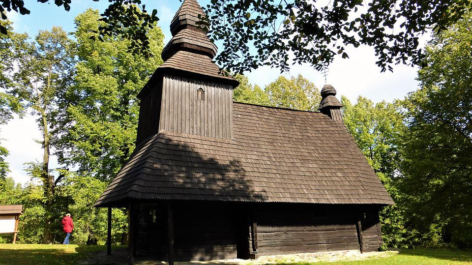 Poland, Wood, Tree, Roof, House, Architecture
