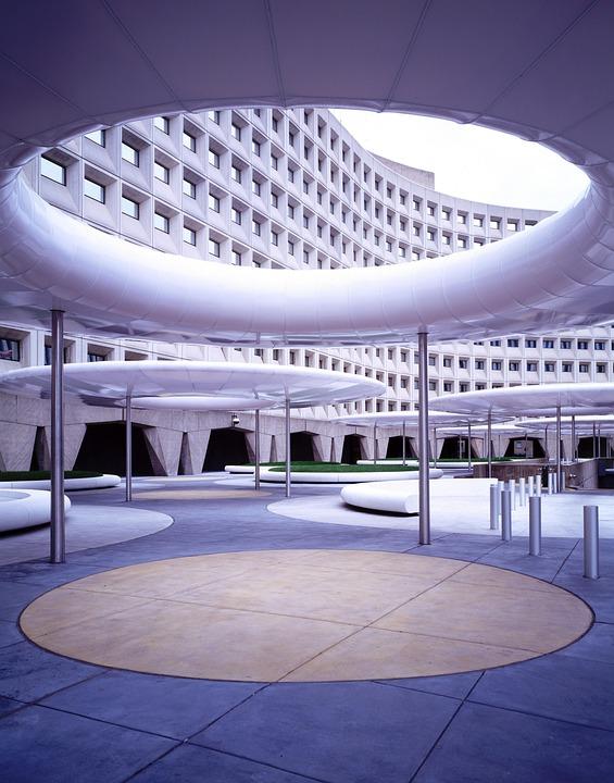 Building, Architecture, Porte Cochere, Washington, Usa