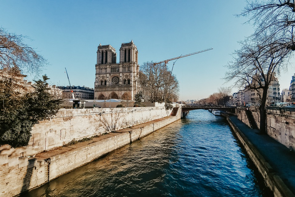 Notre Dame, Church, Cathedral, River, Architecture